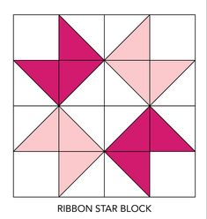 Sew Block Quilt Assemble an Ribbon Star block. - Assemble an Ribbon Star block. Barn Quilt Designs, Barn Quilt Patterns, Pattern Blocks, Quilting Designs, Hunters Star Quilt, Quilt Blocks Easy, Big Block Quilts, Star Blocks, Ribbon Quilt