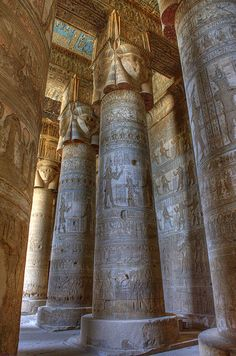 temple of hathor, dendara, egypt | travel destinations in the middle east + ruins #wanderlust