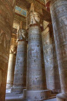 temple of hathor, dendara, egypt | travel destinations in the middle east + ruins #wanderlust