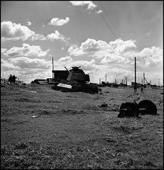 Stalingrad. 1947. Russian tanks destroyed during the 1942 battle of Stalingrad//Robert Capa