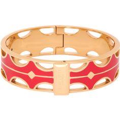 Henri Bendel Enamel Cutout Bangle ($51) ❤ liked on Polyvore featuring jewelry, bracelets, red, enamel bangle bracelet, bracelets bangle, cut out jewelry, enamel bangle and henri bendel bangle