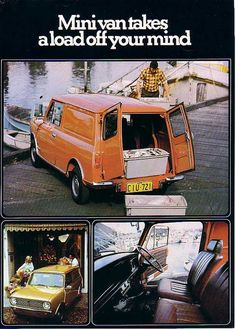 Austin Mini Van advert from Australia Austin Mini, Austin Cars, Classic Mini, Classic Cars, Minis, Chrysler Pacifica, Mini Clubman, Honda Odyssey, Vintage Vans