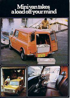 1970s Austin Mini Van advert from Australia by Austin7nut, via Flickr note mini clubman front