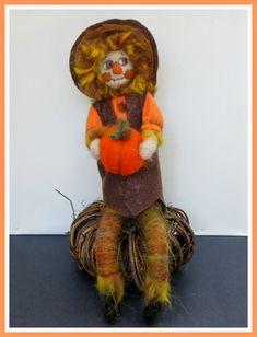 Linda Walsh Originals Dolls and Crafts Blog: My Stan The Pumpkin Man Needle Felted Handmade OOAK Art Doll