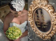 {makeup and bouquet detail shot} As seen on www.wedluxe.com/gonewiththewind