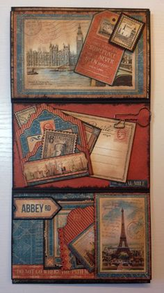 6 x 4 Mini Album Booklets tutorial featuring Graphic 45 Cityscapes and Children's Hour By Anne Rostad