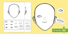 Blank Face Templates Blank Face Templates With Face Features  Worksheets  Pinterest .