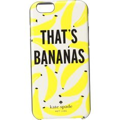 Kate Spade New York That's Bananas iPhone Case for iPhone 6 (Cream... (£16) ❤ liked on Polyvore featuring accessories, tech accessories, multi, print iphone case, pattern iphone case, iphone sleeve case, iphone cell phone cases and apple iphone case