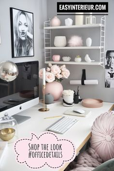 Browsing for some feminine home office ideas? Listed here are elegant and even modern ideas that may help you design and style the minor house now! Use these tips as inspiration with regard to if you're redecorating your home office. Home Office Design, Home Office Decor, Office Ideas, Office Style, Men's Home Offices, Cozy Office, Feminine Home Offices, Space Saving, Decoration