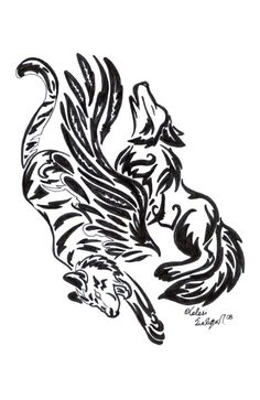 Wolf and Tiger Tattoo by Vargablod on DeviantArt