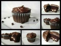 mcdreamy cupcake copycat but with chocolate frosting