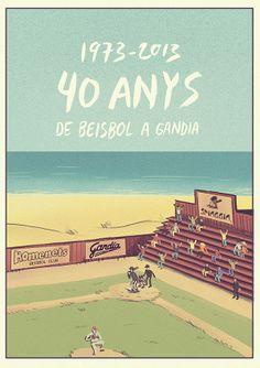 Baseball poster by Andrés Lozano, via Behance