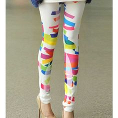 Multi Painting Print Sexy Leggings