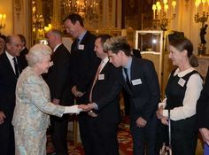 One Direction's Niall Horan met the queen at Buckingham Palace in March 2014. - Getty