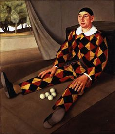 Fernand Pelez, Grimaces et misères, Les saltimbanques (Detail), 1888 Armand Henrion, Self Portrait, Clown with Monocle, c. 1920 Pablo ...