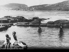 Avalon Rock Pool in the 1920s.