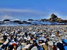 2.) Glass Beach, Fort Bragg, California