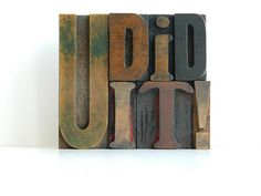 Letterpress Sale Vintage Wood Letterpress by MonkiVintage