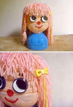 DIY Recycled Plastic Bottle Hairstyling Doll | Handmade Charlotte - Diy Beauty Week