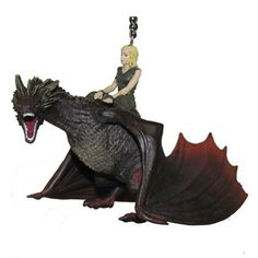 Game of Thrones Drogon with Daenerys 5-Inch Ornament - Kurt S. Adler - Game of Thrones - Holiday Ornaments at Entertainment Earth