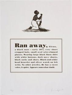 untitled from Runaways, Glenn Ligon