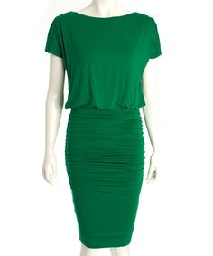 Look at this Jade Green Perry Dress on #zulily today!