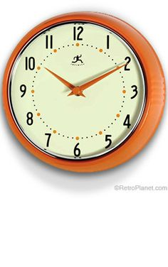 Retro Kitchen Wall Clock Red Traditional Clocks Target Pinterest And Clo