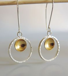 Silver Goldie Hoop Earrings