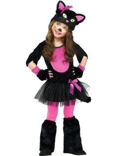 Check out Girl's Miss Kitty Costume - Wholesale Cats Costumes for Girls from Wholesale Halloween Costumes