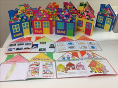 """Pequeño proyecto """"la casa"""" Preschool Arts And Crafts, Activities For Kids, Elementary Spanish, Classroom Projects, Kindergarten Art, Learn English, My Family, Art Lessons, Art For Kids"""