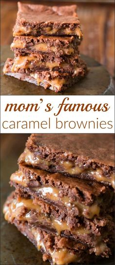Mom is famous for her caramel brownies and after years of never sharing the recipe we decided to put it all out there! So yum! Mom is famous for her caramel brownies and after years of never sharing the recipe we decided to put it all out there! So yum! Just Desserts, Delicious Desserts, Dessert Recipes, Yummy Food, Dessert Bars, Bar Recipes, Carmel Desserts Easy, Pasta Recipes, Steak Recipes