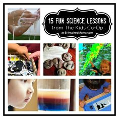 Do your kids like science? Find 15 fun and simple science lessons for preschoolers from the creative moms of The Kids Co-Op at B-InspiredMama.com.