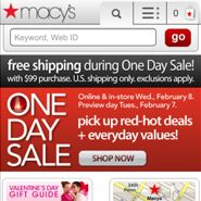 Macy's promotes one-day sale via SMS