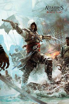 Póster Edward. Assassin's Creed IV Póster perteneciente al popular videojuego Assassin's Creed, con el personaje Edward.