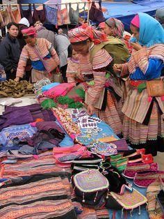 Bac Ha Sunday Market - Vietnam, market, plaza, vender ( I'll take it all!)