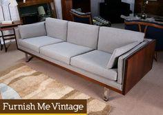Mid Century Modern Milo Baughman Rosewood Sofa