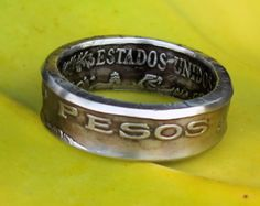 Mexican 5-Peso Coin Ring - 1971 yr. - Size: 12.75 (US)
