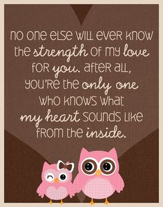 10 x babyquotes - Baby - Geboorte - Zappybaby Owl Quotes, Baby Quotes, Animal Quotes, Funny Quotes, Life Quotes, Mother Daughter Quotes, To My Daughter, Daughters, My Baby Girl