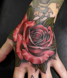 Rose Hand Tattoo...