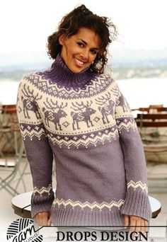 "Reindeer Swing - Knitted DROPS jumper with raglan sleeves and reindeer pattern on yoke in ""Nepal"". Size S - XXXL. - Free pattern by DROPS Design Knitting Patterns Free, Knit Patterns, Free Knitting, Free Pattern, Drops Design, Christmas Knitting, Christmas Sweaters, Crochet Christmas, Icelandic Sweaters"