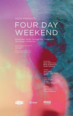 Sezio poster - Four Day Weekend