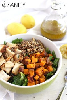 This paleo power salad with lemon chia vinaigrette dressing makes for a flavorful and delicious lunch option!