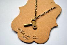 This little pendant is a lot of fun and is reminiscent of a time gone by when we used keys a lot more than we do these days. It comes on an 18 brass