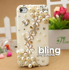 #handmade #iphone #samsung #mobile #phone #cases #phonecases check out http://www.facebook.com/BlingImports Rhinestone/Crystal/Diamond Hard phone Case - this 'Flower Pearl' model just £14 and post free [in 4 colours] - pre-orders yours via our Facebook link above!