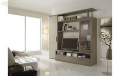 Prezzo: € 549  Parete attrezzata in larice grigio e larice beige  Dimensioni: L.240 P.60 H.226