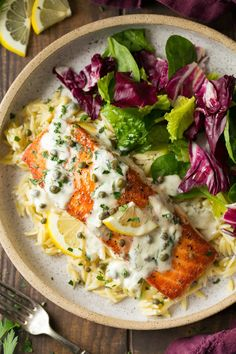 Creamy Salmon Piccata - Cooking Classy