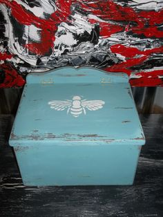 Check out this item in my Etsy shop https://www.etsy.com/listing/262685550/shabby-chic-box-teal-vintage-wood