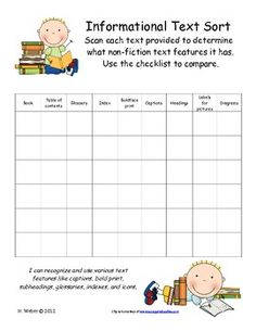 Informational text checklist