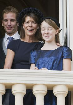 Andrea Casiraghi, Princess Alexandra, Princess Caroline