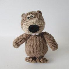 Foggy the Beaver Knitting pattern by Amanda Berry   Knitting Patterns   LoveKnitting